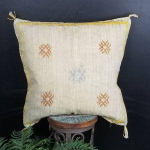 Bohemian Moroccan Sabra Cactus Silk Pillow Cover